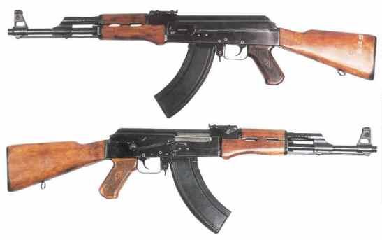 Um rifle automático é o personagem de Ibn Baruk